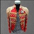 Nuevos Hombres CALIENTES trajes del Cantante traje de lentejuelas estrella bigbang derecho Zhilong EXO mismo estilo bar discoteca chaquetas palacio vestido formal
