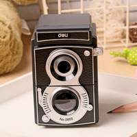 Deli 0668 Mechanical Pencil Sharpener Fantastic Pencil Machine Sweet Memories Vintage Camera Adjustable Pencil Sharpener