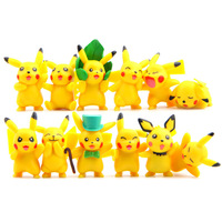 12pcs Lot 4 Dynasties Pikachu Mini Figures PVC Action Figure Toys Doll Collection Model Toy For