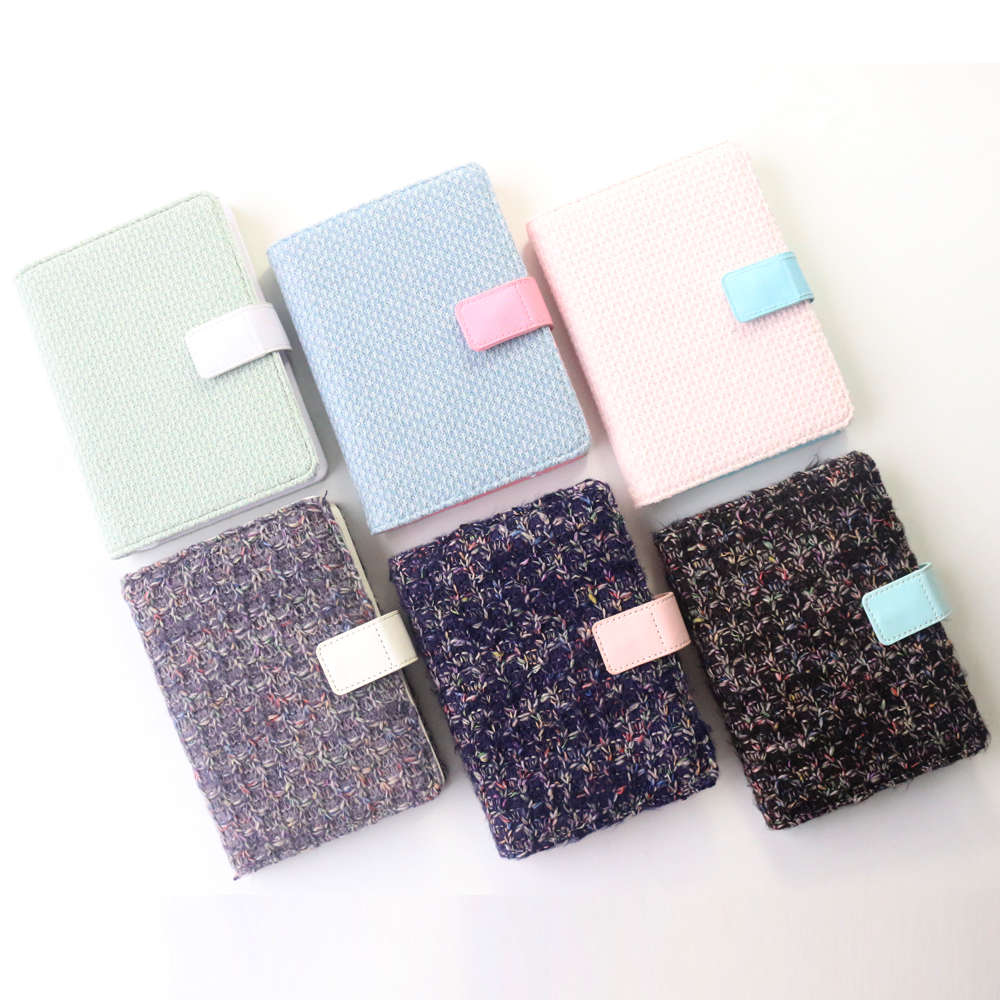 Domikee cute winter series fabric hardcover office school diary notebooks stationery,fine personal agenda planner organizer ,A6 domikee classic fabric hardcover cover fitted travel journal notebook stationery fine portable office school note pad gift b6