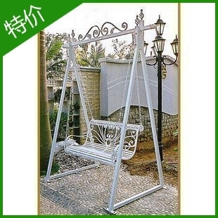 Fashion Iron Cradle Rocking Chair Leisure Chair Double Wrought Iron Garden  Swing Outdoor Rocking Chair