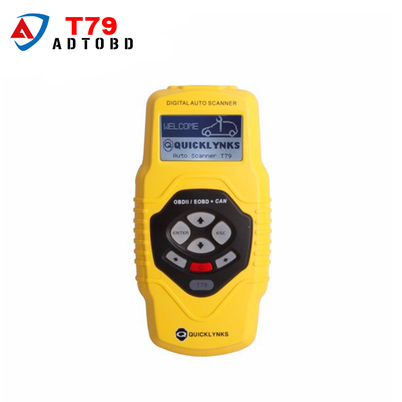 2017 New Arrival Quicklynks Diagnostic OBDII Auto Scanner T79(Yellow/Multilingual/Updatable) Free Shipping electronic parking brake epb service tool ep21 multilingual updatable one year warranty