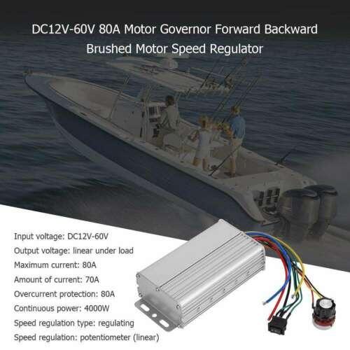 DC12V-60V 80A 4000W Motor GovernorForward Backward Brushed Motor Speed RegulatorDC12V-60V 80A 4000W Motor GovernorForward Backward Brushed Motor Speed Regulator