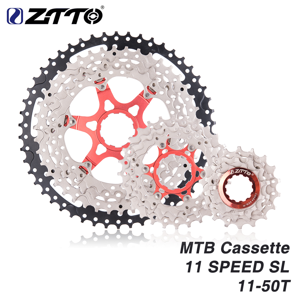 ZTTO 11s 11 - 50t SL Cassette MTB 11Speed Wide Ratio UltraLight Freewheel Mountain Bike Bicycle Parts for K7 X1 XO1 XX1 m9000 все цены