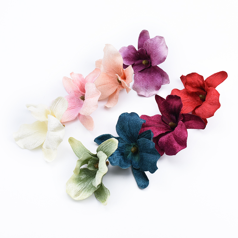 2pcs Butterfly orchid wedding bridal accessories clearance decorative flowers wreaths scrapbook diy Christmas artificial flowers