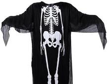 Halloween Cosplay Ghost Skeleton Skull Black Clothes Mask Costume Dress Up
