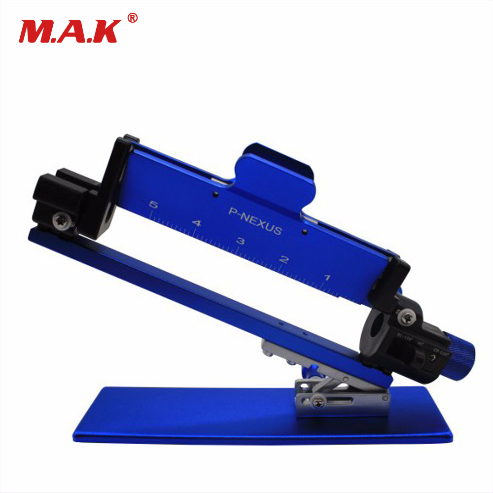 New High Quality Adjustment Functions Aluminum Fletching Jig in Black/Red/Blue/Siliver For Compound Bow And Recurve Bow Arrow bitzenburger professional carbon or aluminu arrow new adjustable steel fletching jig bitznbg fletchn jig w clmp
