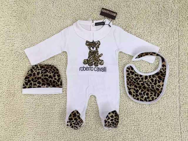 Baby romper three-piece suit Leopard grain clothing climb clothes Infants Package foot jumpsuits no box wholesale
