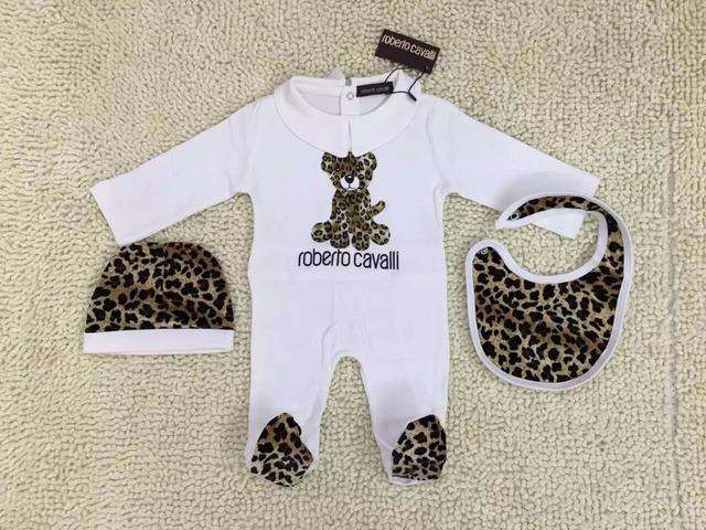Romper do bebê de três-piece suit Leopard grão Pacote de roupas subir vestuário Crianças macacões pé no box atacado