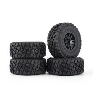 Image 4 - Комплект резиновых колес AUSTAR 110 мм, 4 шт., комплект запасных частей для модели гусеничного автомобиля Traxxas Slash 4X4 RC4WD HPI HSP