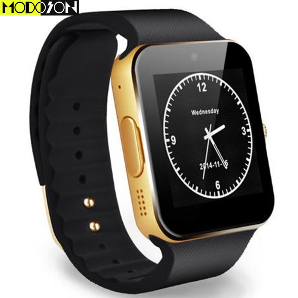 MODOSON Smart Watch GT08 Clock Sport Bluetooth Smartwatch SIM Card Hours For Samsung Huawei Xiaomi Apple iphone XS MAX XR X 8 7-in Smart Watches from Consumer Electronics on AliExpress