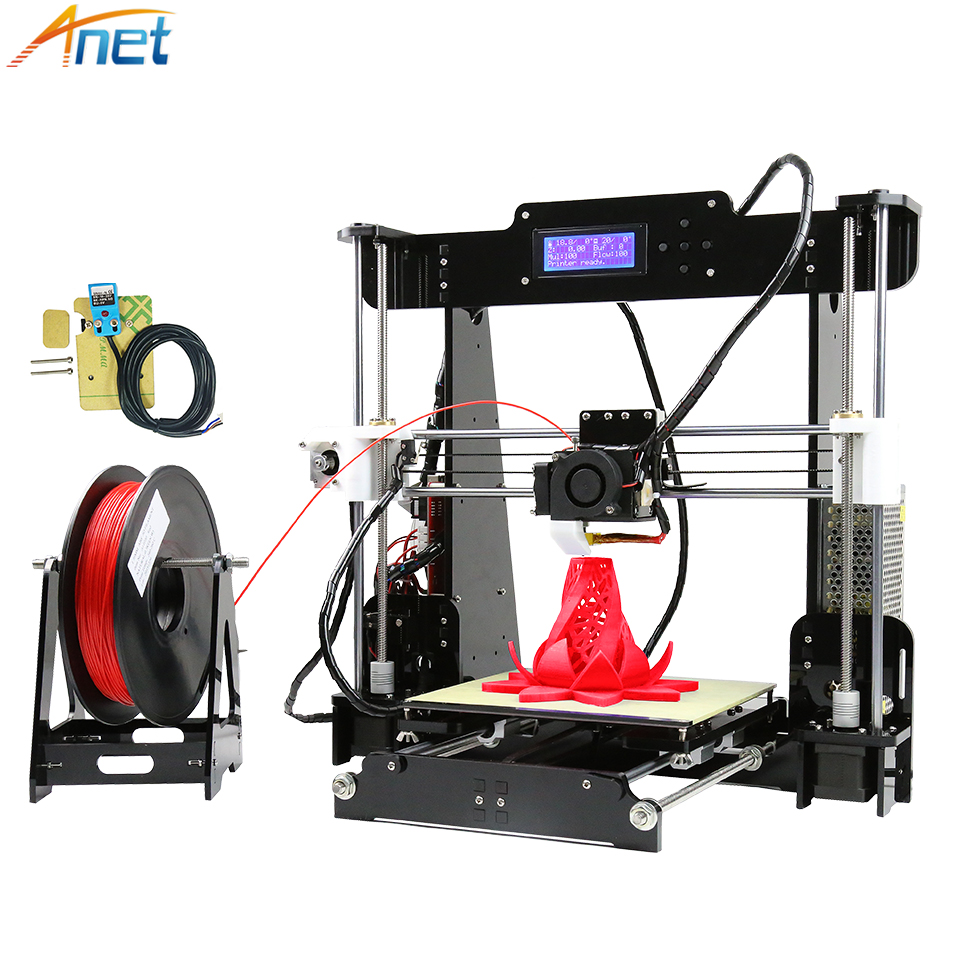 Anet E12 E10 Autolevel A8 3D Printer Machine Large Printing Size High Precision Reprap i3 DIY 3D Printer Kit with Filament anet e12 3d printer large printing size high precision update threaded rod reprap i3 3d 3d printer kit with pla abs filament