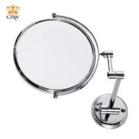 CRW Bathroom Mirror Modern 8 Wall Mounted Make Up Mirror Magnifying Dual Arm Extend Shaving Mirror 2 Face MR15492