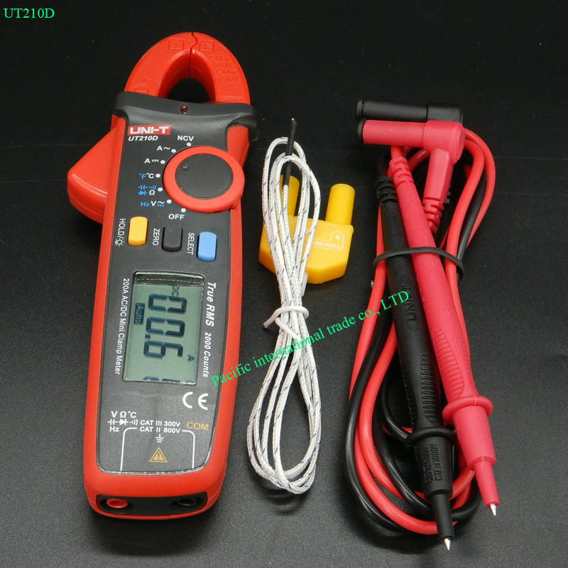 Digital Clamp Meters Multimeter True RMS AC/DC Current Capacitance Tester Digital Multitester LCR Meter Megohmmeter UNI-T UT210D планшет apple ipad wi fi cellular 128gb retina mrm22ru a 9 7 ips 2048x1536 retina a10 3g lte wifi bт 8 0mp ios11 gold