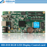 HD-D10 asíncrono 384*64 píxeles 4 * HUB75 interfaz de datos RGB a todo color tarjeta de control de pantalla led soporte 1/32 escáner