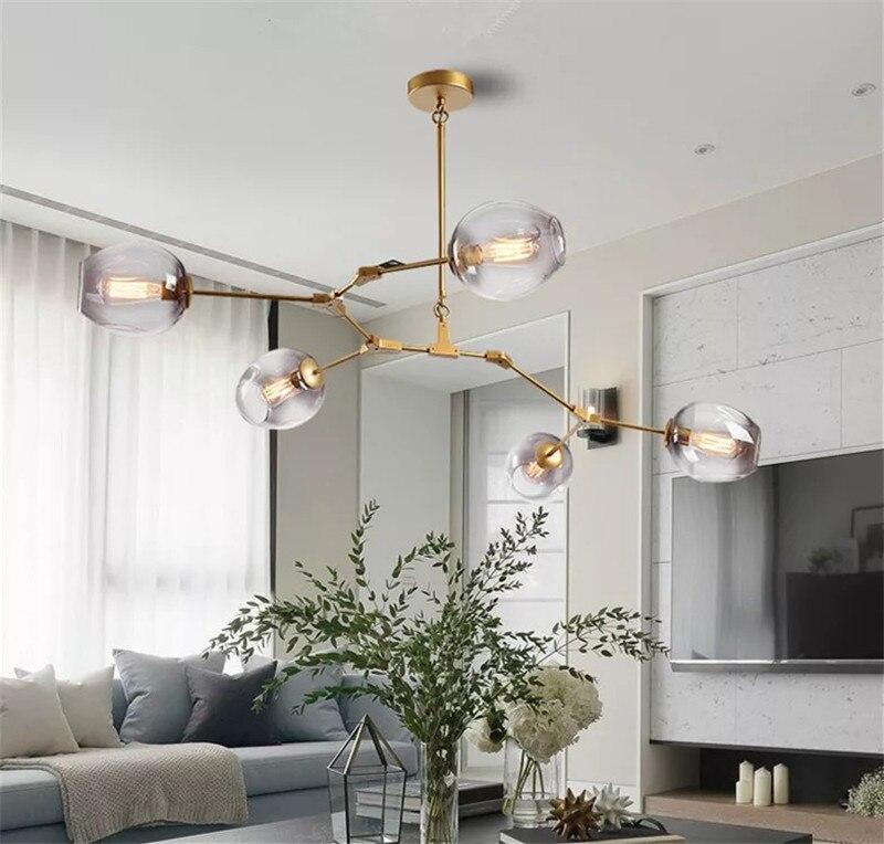 Nordic post modern pendant lamp molecular chandelier personality magic bean living room bedroom restaurant Nordic lighting
