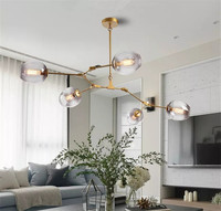 Nordic post modern pendant lamp molecular chandelier personality magic bean living room bedroom restaurant Nordic lighting