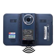 7 «Android Автомобильный GPS Радар-детектор 150 градусов объектив камеры DVR 1080 P авто камера G-сенсор камера заднего вида 16 ГБ бесплатную карту