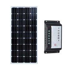 TUV Solar Panel 12v 150w  Solar Battery Charger Solar Charge Controller 12v/24v 20A Street Light Regulator Car Caravan Camp 145 epsolar solar regulator 20a 12v 24v solar charge controller 50v ls2024b
