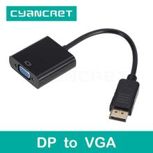 Video Cable Convert Displayport DP to VGA Port Cable Male-Female Adapter for Computer HDTV Monitor Projector Support 1080P