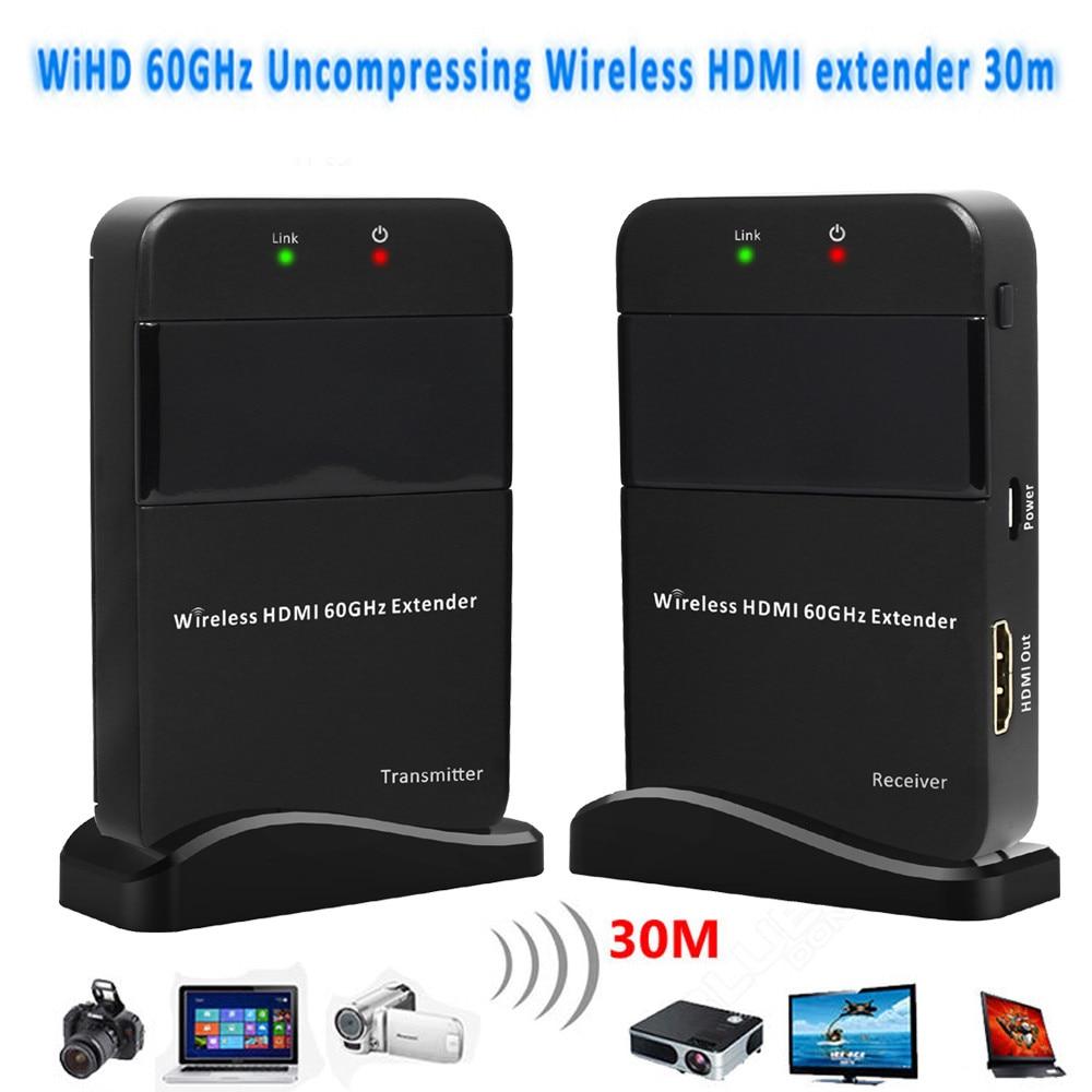 60GHz Wireless HDMI Transmitter 4K 1080P HDMI Wireless Video Transmission Extender 100ft Wireless HDMI Transmitter Receiver Kit
