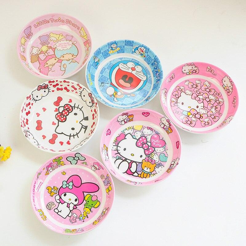 Baby Food Use Melamine 16  Patten Cartoon Food Service Plate Kid Tableware Tray