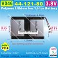 [V046] 3.8V,3.7V,6600mAH,[4412180] PLIB;Polymer lithium ion / Li-ion battery for tablet pc,cell phone,POWER BANK