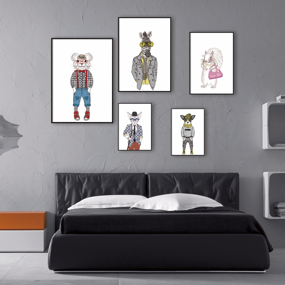 Modern minimalist nordic cute animals fashion art room for Modern minimalist fashion