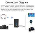 TS-BT35F18 Transmissor & Splitter Adaptador de Áudio Bluetooth 4.1 A2DP Sem Fio Bluetooth Leitor De Áudio Sem Fio Adaptador Aux 3.5mm
