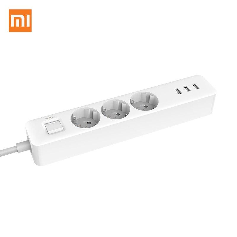 Nueva llegada Original Xiaomi Mijia regleta 3 tomas 3 Puerto USB grande extensión tablero de remiendo para el hogar oficina Mundial
