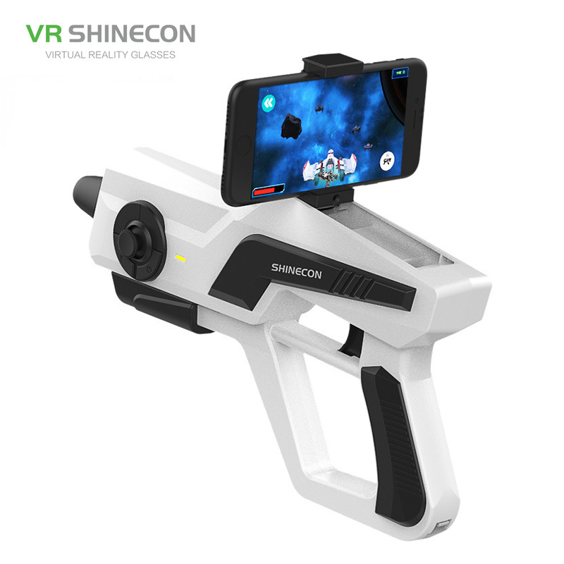 Vr/ar Devices 3d Glasses/ Virtual Reality Glasses Shinecon Smart Somatosensory Ar Gun Pistol Bluetooth Handle Phone Game Augmented Reality Accurate Shooting Decompression Toys