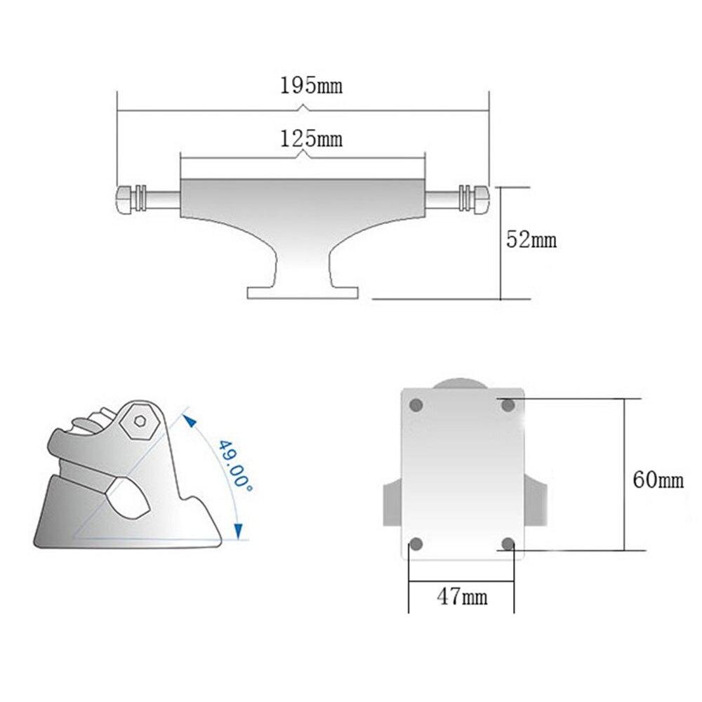 2 pièces planche à roulettes ancre pont support camion Rack gravité coulée universelle - 2