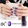 Бренд BK Лак Для Ногтей Черный Звездное Небо Голографические Лак Для Ногтей Блеск Ногтей Лак Эмаль Профессиональный Nail Art Косметика