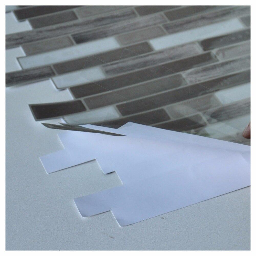 Stick Backsplash Tiles for Bathroom and Kitchen 12\'\'x12\'\' Peel and ...