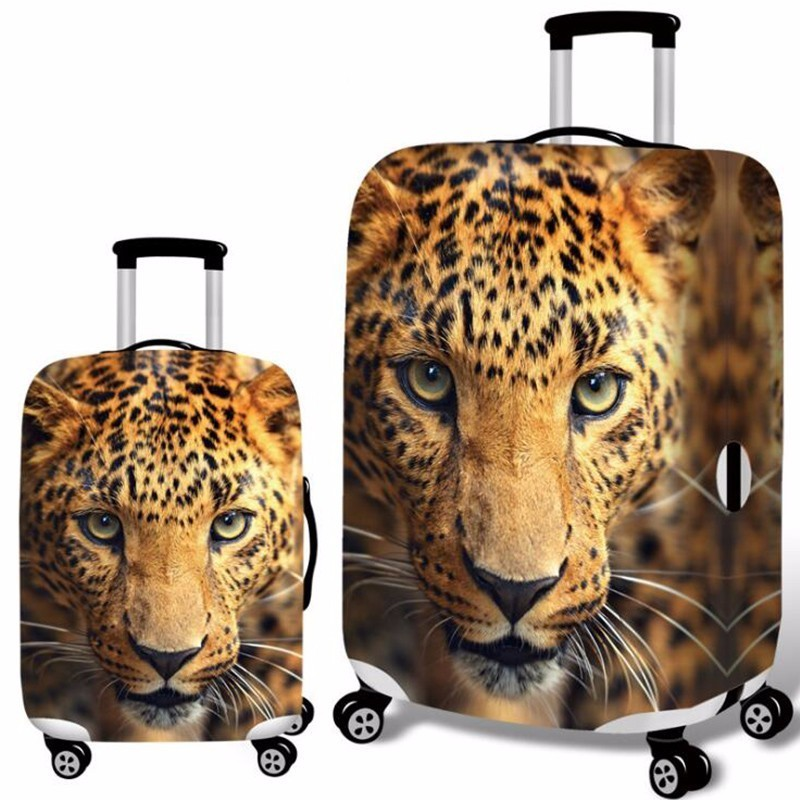 Leopard Luggage Protective Cover Apply 18-32 Inch Trolley Suitcase Elastic Dust Bags Case Travel Accessories Supplies Gear Item