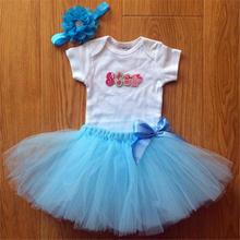 Baby Birthday skirt Kids Party Vestidos Infantis Lace baby 1 years birthday party tutubirthday skirt
