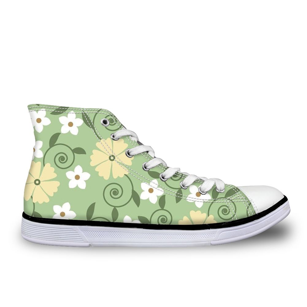 ELVISWORDS Small Daisy Sweet Women Flats New Women Summer Lilac Flower Canvas Breathable Shoes for Girls Lady Platform Sneakers instantarts women flats emoji face smile pattern summer air mesh beach flat shoes for youth girls mujer casual light sneakers