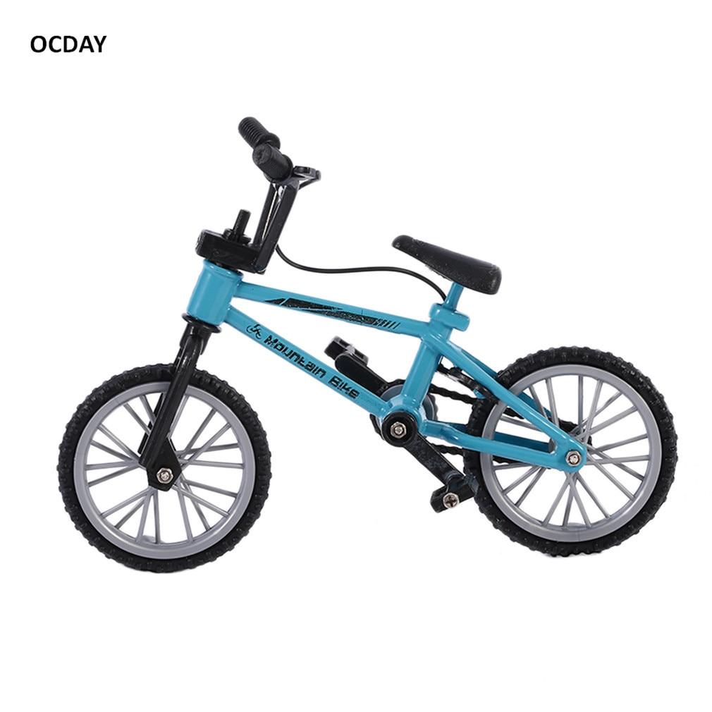 OCDAY Fingerboard sykkel Leker med bremserulle Blå simulering - Humoristiske leker - Bilde 5