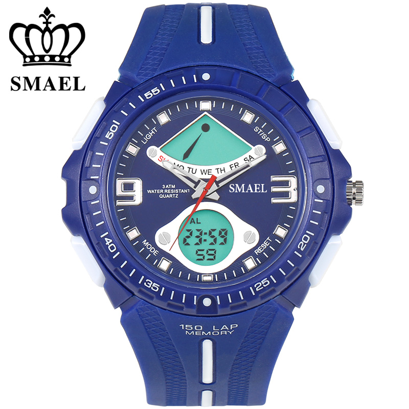 SMAEL Watch Men Sport Shock Resistant Waterproof Casual Watches S Shock Digital Watch Men s Writwatches