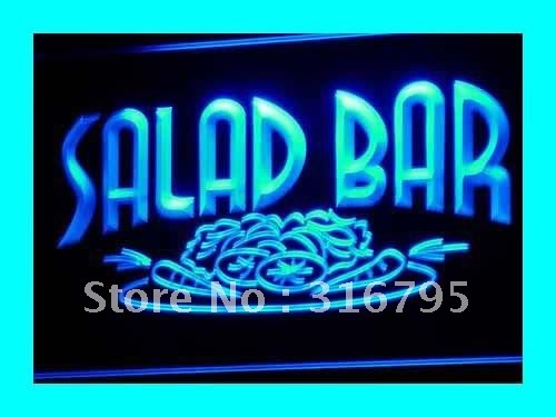 i089 Salad Bar Cafe Enseigne Lumineuse Light Sign On/Off Swtich 20+ Colors 5 Sizes