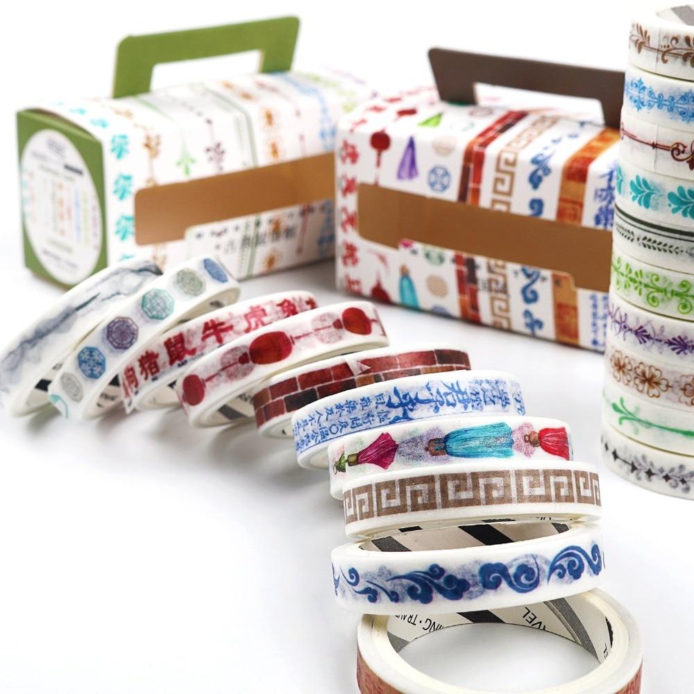 10 Rolls/Lot Beautiful of Nature Washi Tape Set Diy Decoration Scrapbooking Planner Masking Tape Adhesive Tape Label Sticker стоимость