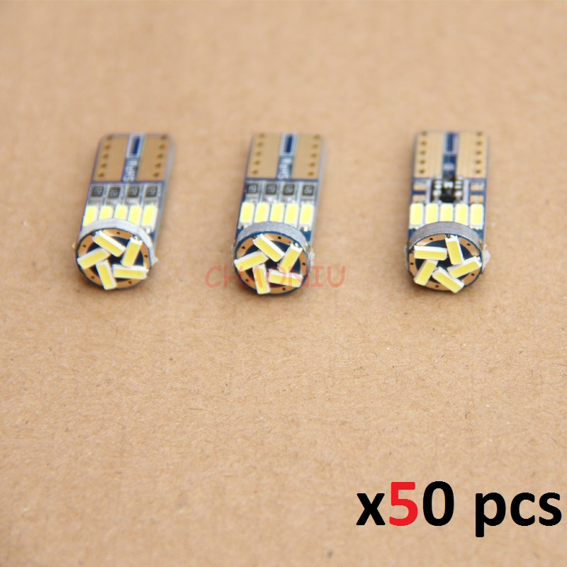 50 pcs <font><b>T10</b></font> 15SMD <font><b>4014</b></font> led <font><b>canbus</b></font> NO ERROR led <font><b>T10</b></font> <font><b>canbus</b></font> <font><b>W5W</b></font> led Trunk light Door lamp led Dome Light Universal reading lamp image