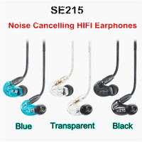 In stock! SE215 Hi fi stereo Headset Noise Canceling 3.5MM In ear Earphones Separate Cable headset with Box free shipping