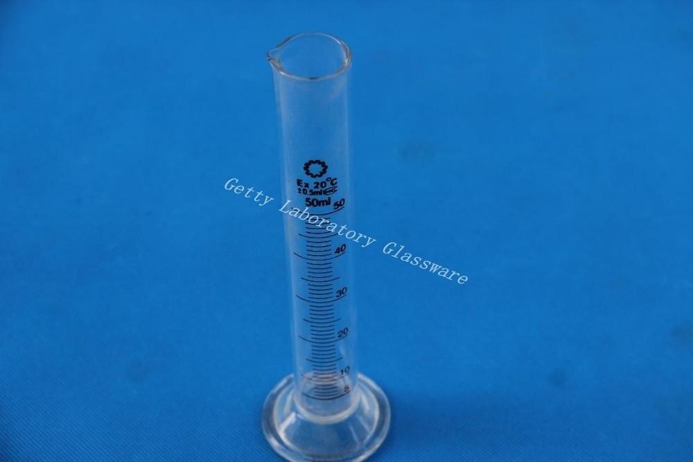 50 mL Cylindre De Mesure, borosilicate verre 3.3 matériel de laboratoire en verre