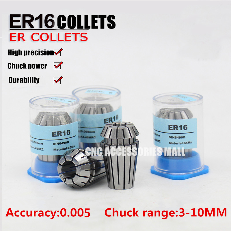 9pcs ER16 high precision 0.005mm Spring Collet chuck For CNC Engraving Milling dh48s 2z s 12v 24v 110v 220v multifunction digital timer relay on delay 8 pins spdt dh48s s repeat cycle 0 1s 99h