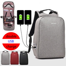Unisex Leisure Multifunction Backpack Double USB Charge Anti Thief Rucksack Laptop Mochila Travel School Bags Sac A Dos