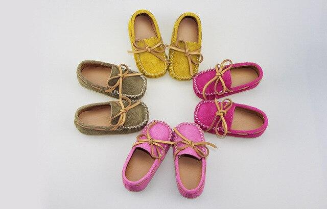 Новый натуральная кожа замша мода твердые Мокасины лодка обувь мальчиков девочки кроссовки трудно резиновая подошва случайные одного ребенка детская обувь