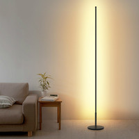 Simple Nordic Minimalist LED Floor Lamps Creative Standing Lamps for Living Room Led Black Metal Luminaria Standing Lamp Lampara