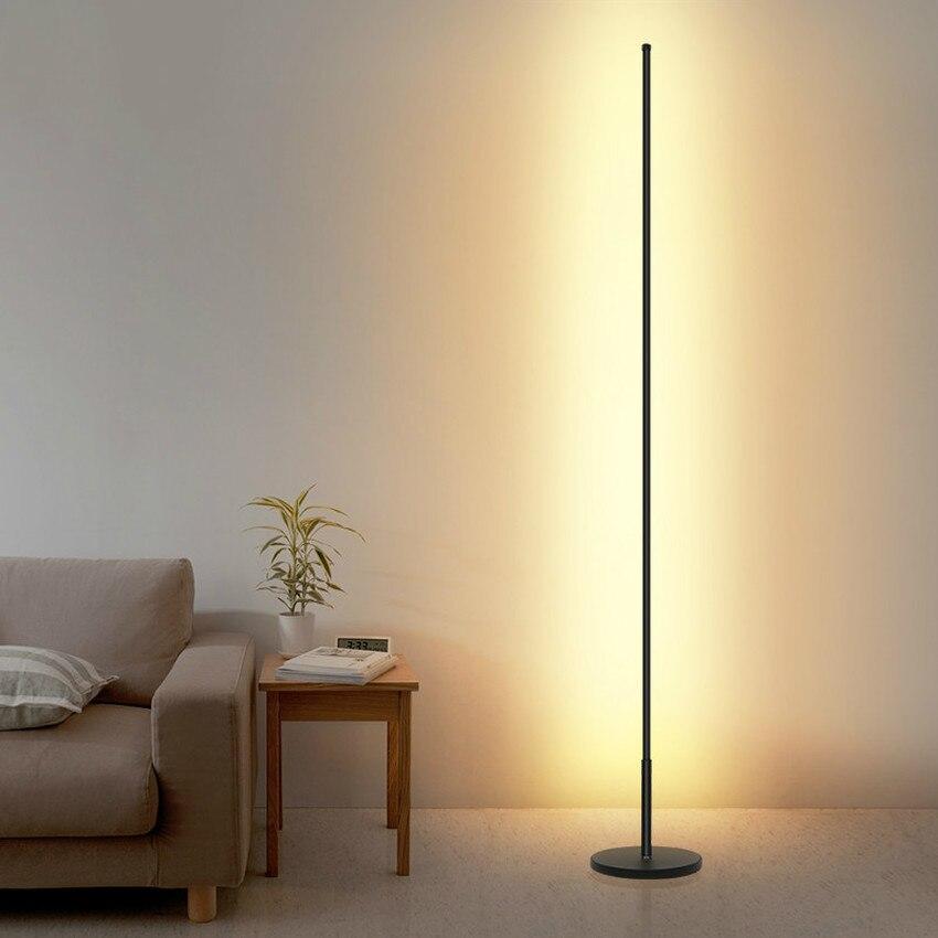 Simple Nordic Minimalist LED Floor Lamps Creative Standing Lamps for Living Room Led Black Metal Luminaria Standing Lamp Lampara