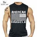 Seven joe. novo clothing t-shirt gymvest parte superior do tanque de musculação homens fitness workout muscle americano eua bandeira dos eua tee camisola